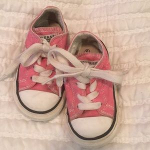 Pink Converse Sneakers, Size 5